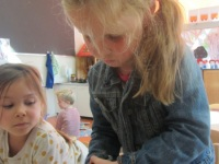 Foto bij herfst in de klas