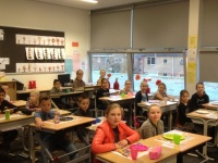 Foto bij schoolontbijt 12 nove,ber 2015