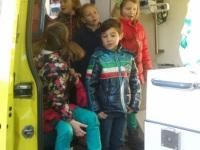 Foto bij Ambulance op school