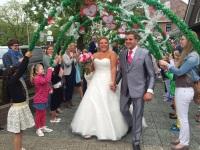 Foto bij Bruiloft juf Sanne